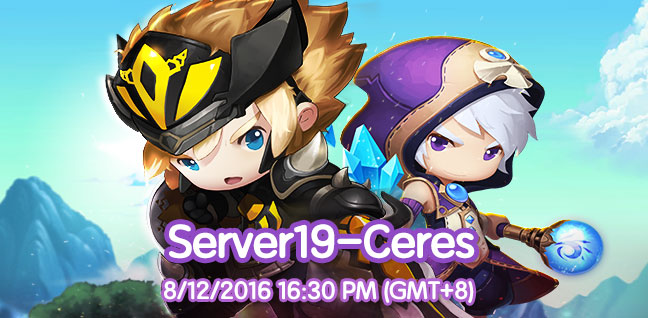 New Server-S19 Ceres (13th Aug 2016 16:30 (GMT+8)